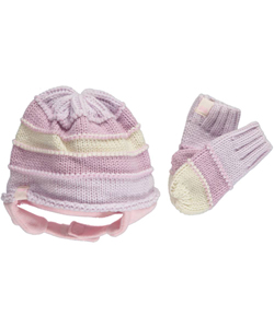 "Levi's ""Inside-Out Stripe"" Beanie & Mittens Set (Toddler One Size) - CookiesKids.com"