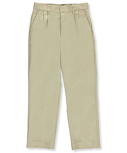 Galaxy Big Boys' School Uniform Double Knee Pleated Pants (Sizes 8 - 20) - CookiesKids.com