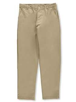 Galaxy Young Men Flat Front School Uniform Pants (Sizes 30-42) - CookiesKids.com