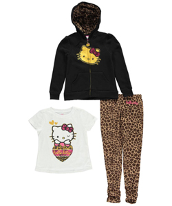 "Hello Kitty Little Girls' Toddler ""Kitty Wink"" 3-Piece Outfit (Sizes 2T – 4T) - CookiesKids.com"