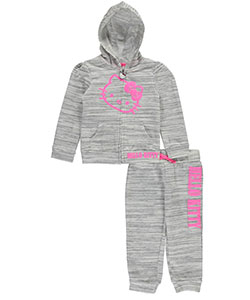 "Hello Kitty Little Girls' ""Marbled"" 2-Piece French Terry Sweatsuit (Sizes 4 – 6X) - CookiesKids.com"