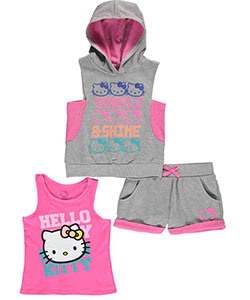 "Hello Kitty Big Girls' ""Sparkle & Shine"" 3-Piece Outfit (Sizes 7 – 16) - CookiesKids.com"