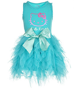 "Hello Kitty Little Girls' ""Metallic Shimmer"" Dress (Sizes 4 – 6X) - CookiesKids.com"