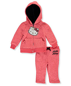 "Hello Kitty Baby Girls' ""Sequins & Marble"" 2-Piece Fleece Sweatsuit - CookiesKids.com"