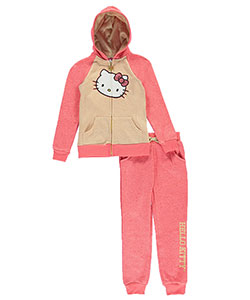 Hello Kitty Big Girls' Toddler 2-Piece Sweatsuit (Sizes 7 – 16) - CookiesKids.com