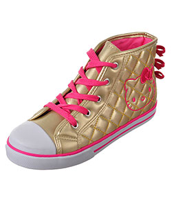 Hello Kitty Girls' Hi-Top Sneakers (Youth Sizes 13 – 3) - CookiesKids.com