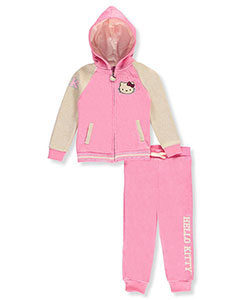 Hello Kitty Little Girls' Toddler 2-Piece Knit Sweatsuit (Sizes 2T – 4T) - CookiesKids.com
