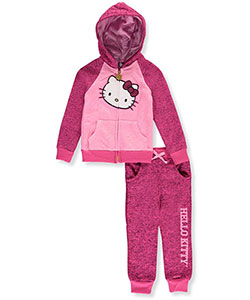 Hello Kitty Little Girls' 2-Piece Fleece Sweatsuit (Sizes 4 – 6X) - CookiesKids.com