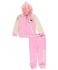 Hello Kitty Little Girls' 2-Piece Knit Sweatsuit (Sizes 4 – 6X) - CookiesKids.com