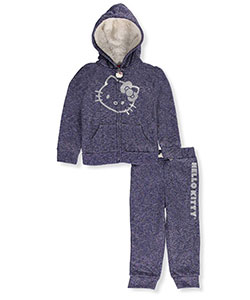 Hello Kitty Little Girls' Toddler 2-Piece Fleece Sweatsuit (Sizes 2T – 4T) - CookiesKids.com