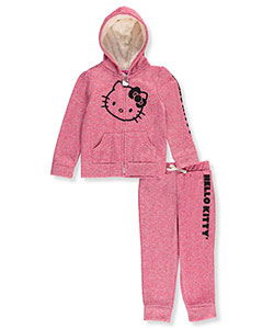 Hello Kitty Little Girls' Toddler 2-Piece Sweatsuit (Sizes 2T – 4T) - CookiesKids.com