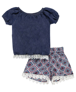 "Girls Luv Pink Little Girls' Toddler ""Eastern Artisan"" 2-Piece Outfit (Sizes 2T – 4T) - CookiesKids.com"