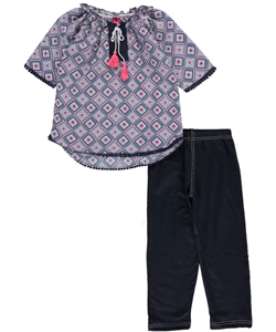 "Girls Luv Pink Big Girls' ""Eastern Origins"" 2-Piece Outfit (Sizes 7 – 16) - CookiesKids.com"
