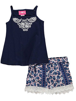 "Girls Luv Pink Baby Girls' ""Paisley Swirl"" 2-Piece Outfit - CookiesKids.com"