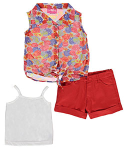"Girls Luv Pink Little Girls' Toddler ""Sunshine Bouquet"" 3-Piece Outfit (Sizes 2T – 4T) - CookiesKids.com"