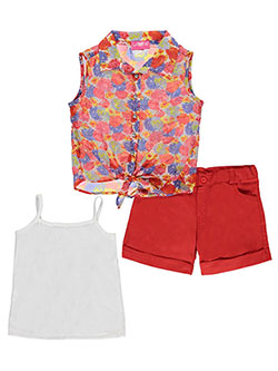 "Girls Luv Pink Big Girls' ""Sunshine Bouquet"" 3-Piece Outfit (Sizes 7 – 16) - CookiesKids.com"