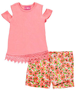 "Girls Luv Pink Big Girls' ""Fancy Jersey"" 2-Piece Outfit (Sizes 7 – 16) - CookiesKids.com"