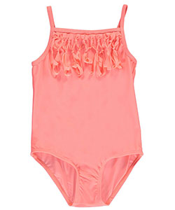 "Surf Zone Little Girls' ""Tied Fringe"" 1-Piece Swimsuit (Sizes 4 – 6X) - CookiesKids.com"