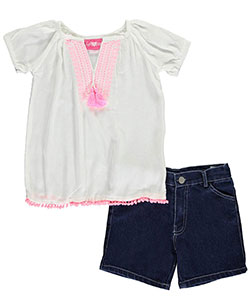 "Girls Luv Pink Big Girls' ""Fuzzy Trim"" 2-Piece Outfit (Sizes 7 – 16) - CookiesKids.com"