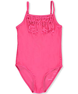 "Surf Zone Big Girls' ""Tied Fringe"" 1-Piece Swimsuit (Sizes 7 – 16) - CookiesKids.com"