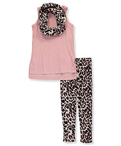 "Girls Luv Pink Big Girls' ""Leopard Knit"" 2-Piece Outfit (Sizes 7 – 16) - CookiesKids.com"