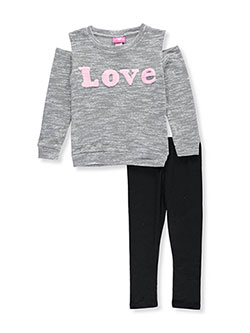"Girls Luv Pink Big Girls' ""Fuzzy Love"" 2-Piece Outfit (Sizes 7 – 16) - CookiesKids.com"