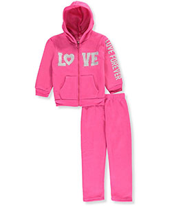 Girls Luv Pink Little Girls' Toddler 2-Piece Fleece Sweatsuit (Sizes 2T – 4T) - CookiesKids.com
