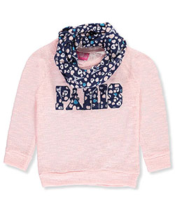 Girls Luv Pink Little Girls' L/S Top with Scarf (Sizes 4 – 6X) - CookiesKids.com