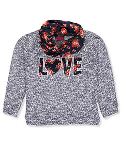 Girls Luv Pink Big Girls' L/S Top with Scarf (Sizes 7 – 16) - CookiesKids.com