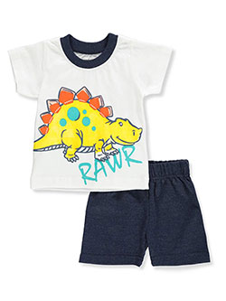 ff01ec9e6b0 Baby Boys  2-Piece Shorts Set Outfit by Teddyboom in White multi ...