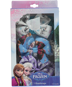 "Disney Frozen Baby Girls' ""Bow Medley"" 3-Pack Headwraps - CookiesKids.com"