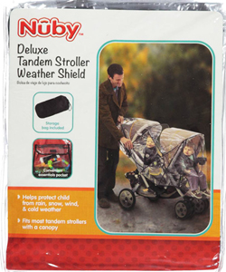 Nuby  Deluxe Tandem Stroller Weather Shield - CookiesKids.com