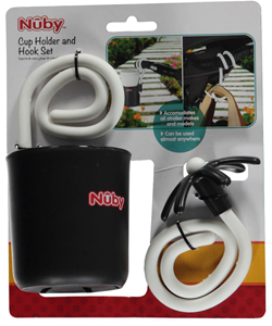 "Nuby ""Twist to Fit"" Cup Holder & Hook Set - CookiesKids.com"