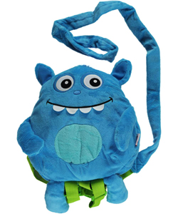 "Nuby ""Cheerful"" Plush Monster Dual Purpose Harness and Backpack - CookiesKids.com"