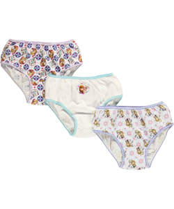 "Disney Frozen Little Girls' ""Snowflakes"" 3-Pack Panties (Sizes 4 – 6X) - CookiesKids.com"