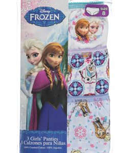 "Disney Frozen Big Girls' ""Snowflakes"" 3-Pack Panties (Sizes 7 – 16) - CookiesKids.com"