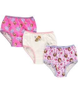 "Sofia the First Little Girls' Toddler ""Royal Education"" 3-Pack Panties (Sizes 2T – 4T) - CookiesKids.com"