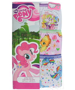 "My Little Pony Little Girls' ""Magic Manes"" 3-Pack Panties (Sizes 4 – 6X) - CookiesKids.com"