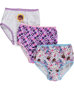 "Doc McStuffins Little Girls' Toddler ""Doc Medley"" 3-Pack Panties (Sizes 2T – 4T) - CookiesKids.com"