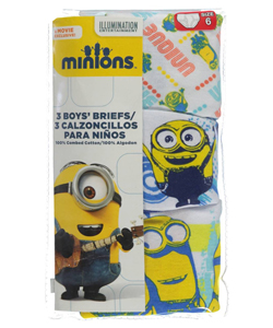 "Minions Little Boys' ""Sketch"" 3-Pack Briefs (Sizes 4 – 7) - CookiesKids.com"
