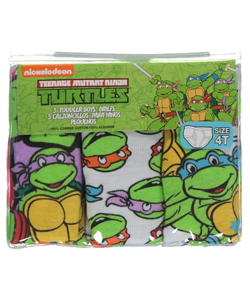 "TMNT Little Boys' Toddler ""Cartoon Faces"" 3-Pack Briefs (Sizes 2T – 4T) - CookiesKids.com"