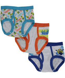 "Minions Little Boys' Toddler ""Character Highlight"" 3-Pack Briefs (Sizes 2T – 4T) - CookiesKids.com"