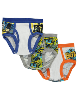 "Batman Big Boys' ""Spring into Action"" 3-Pack Briefs (Sizes 8 – 20) - CookiesKids.com"