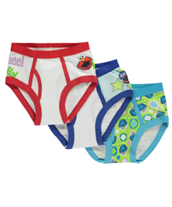 "Sesame Street Little Boys' Toddler ""Character Medley"" 3-Pack Briefs (Sizes 2T – 4T) - CookiesKids.com"
