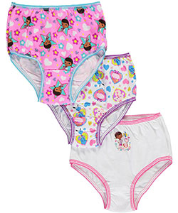 "Doc McStuffins Little Girls' Toddler ""Happy Sketch"" 3-Pack Panties (Sizes 2T – 4T) - CookiesKids.com"