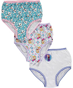 "Disney Frozen Little Girls' Toddler ""Snow Friends"" 3-Pack Panties (Sizes 2T – 4T) - CookiesKids.com"