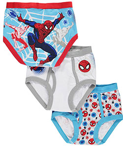 "Spider-Man Little Boys' Toddler ""Friendly Web"" 3-Pack Briefs (Sizes 2T – 4T) - CookiesKids.com"