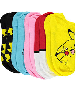 "Pokemon Boys' ""Catch 'Em All"" 5-Pack Ankle Socks (Sizes 9 – 11) - CookiesKids.com"