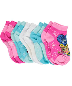 "Shimmer and Shine Girls' ""Fairy Dust"" 5-Pack Ankle Socks (Sizes 5 – 6.5) - CookiesKids.com"
