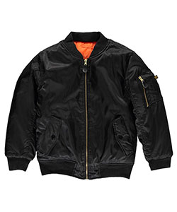 "Swiss Cross Little Boys' ""Classic Mode"" Reversible Flight Jacket (Sizes 4 – 7) - CookiesKids.com"